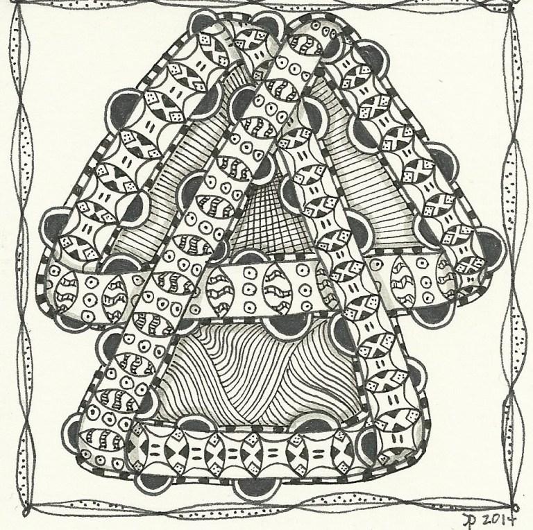 Moebius Strip-inspired Zentangle