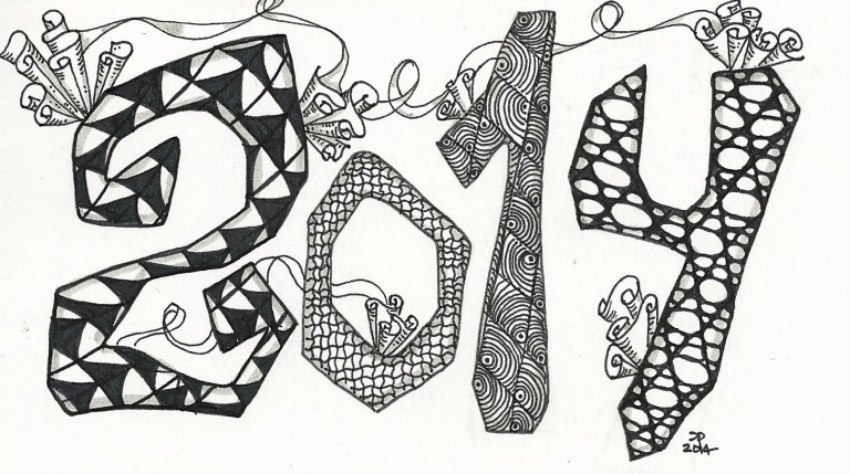 2014 Zentangle for the Weekly Challenge by Zentangle Diva