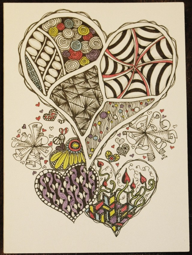 Valentine inspired by Zentangles