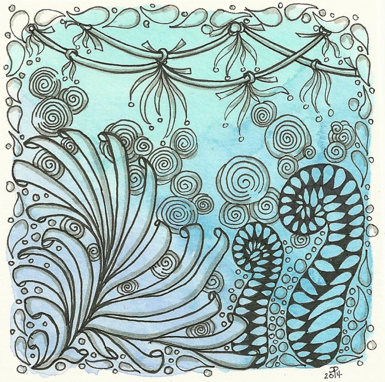 Blue Hue Zentangle