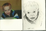 Day 1 of Portrait drawings.  Wyatt, from photo